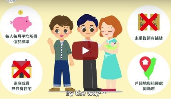 單身青年及婚育家庭租金補貼懶人包圖示